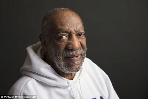 Bad guy: Dickinson says after Cosby allegedly gave her the pill, the next thing she remembers is 'waking up with her pajamas off and semen between her legs'