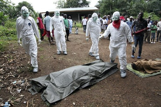 Tragedy: The Ebola epidemic, the worst since the virus was first discovered in 1976, has now claimed 5,987 lives in West Africa, and 15 in other countries