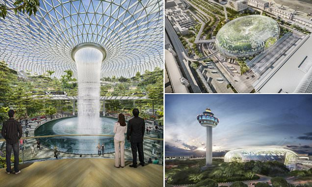 Changi Airport Singapore's Jewel Changi Airport Will Boast Largest Indoor
