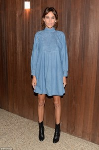 Alexa Chung puts her never-ending legs on show in a denim ...