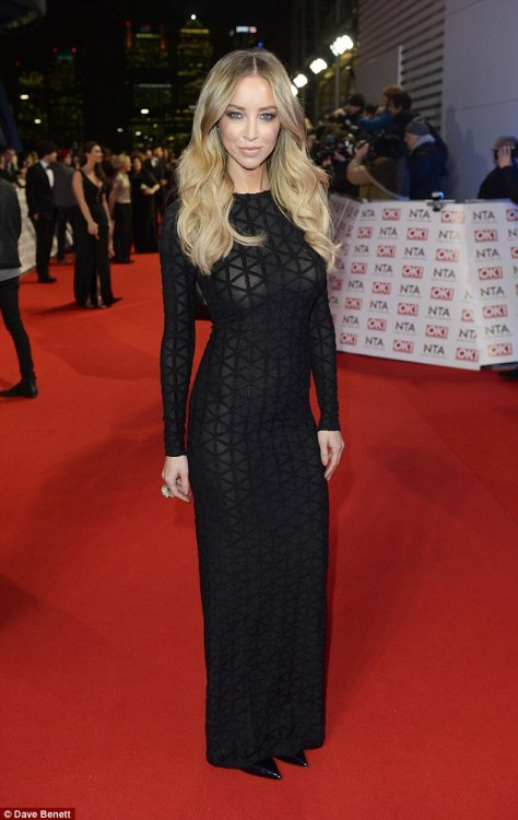 Last week, Lauren worked a long-sleeved semi-sheer black dress on the red carpet at the National Television Awards