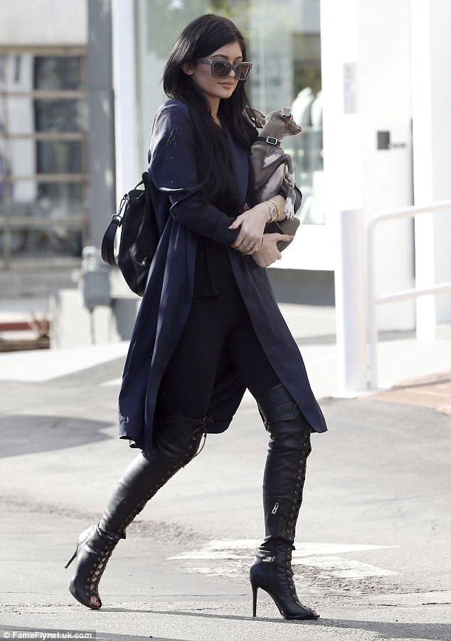 Pitbulls And Girls Wallpaper Kylie Jenner Brings Dog Norman For Shopping Trip While