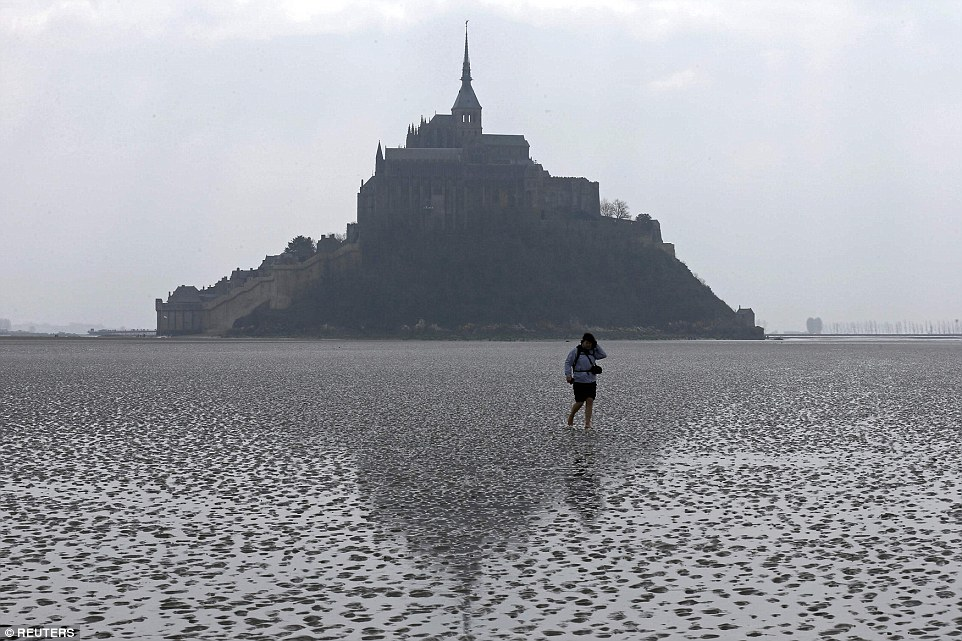 Supertide in Mont Saint Michel, France sparked by solar eclipse
