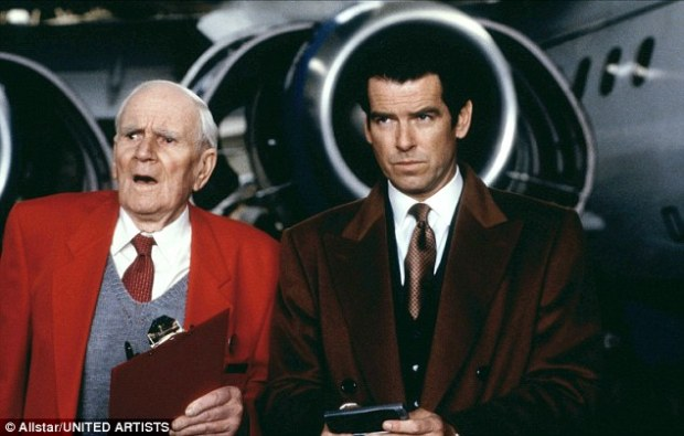 While Pierce Brosnan, right, pictured with Desmond Llewelyn, left, was born in the Irish Republic