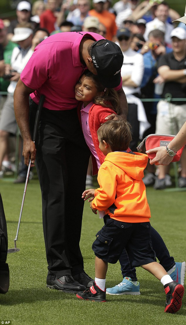 latest pictures of tiger woods children 2016