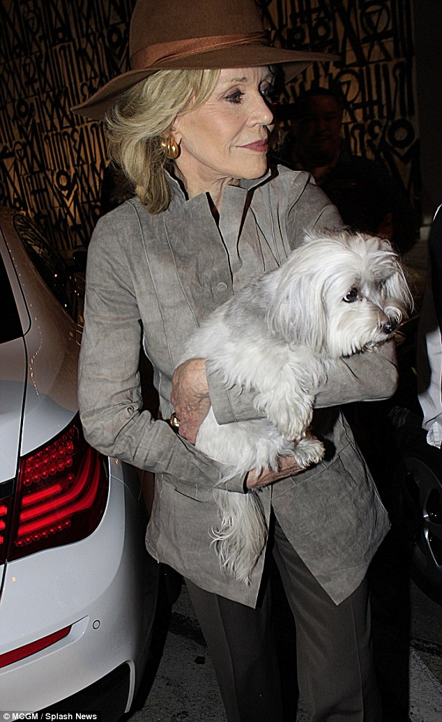 Child Car Seat Jacket Jane Fonda And Richard Perry Dine In Beverly Hills With