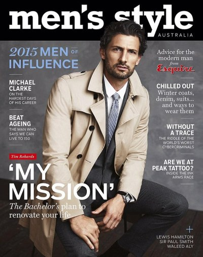 Tim Robards becomes first man to cover Men's Style ...