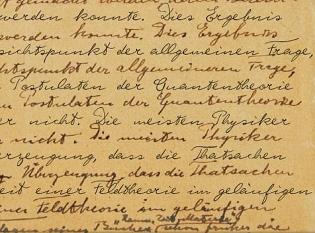 Write like a genius New font mimics handwriting of Albert Einstein