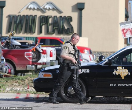 Mystery: witnesses who were at the shooting said they heard mainly semi-automatic weapon fire - a puzzling fact as police have so far only spoken on recovering one semi-automatic rifle from the scene