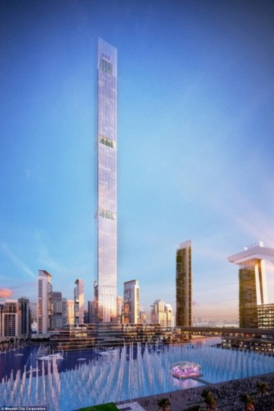 Dubai to build the world's highest residential tower The Dubai One tower | Daily Mail Online