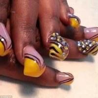 Bubble nails craze sees women pile acrylic onto their ...