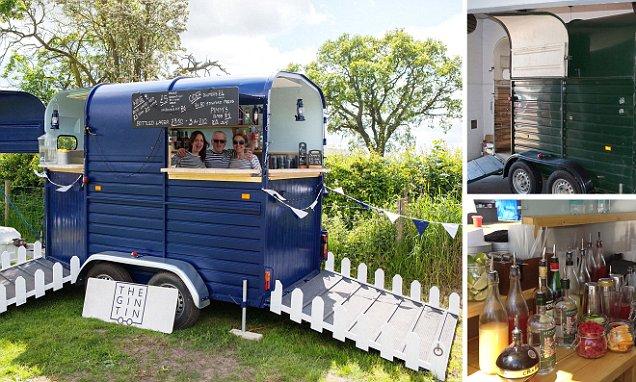 London Family Transform Horse Box Into A Mobile Bar The