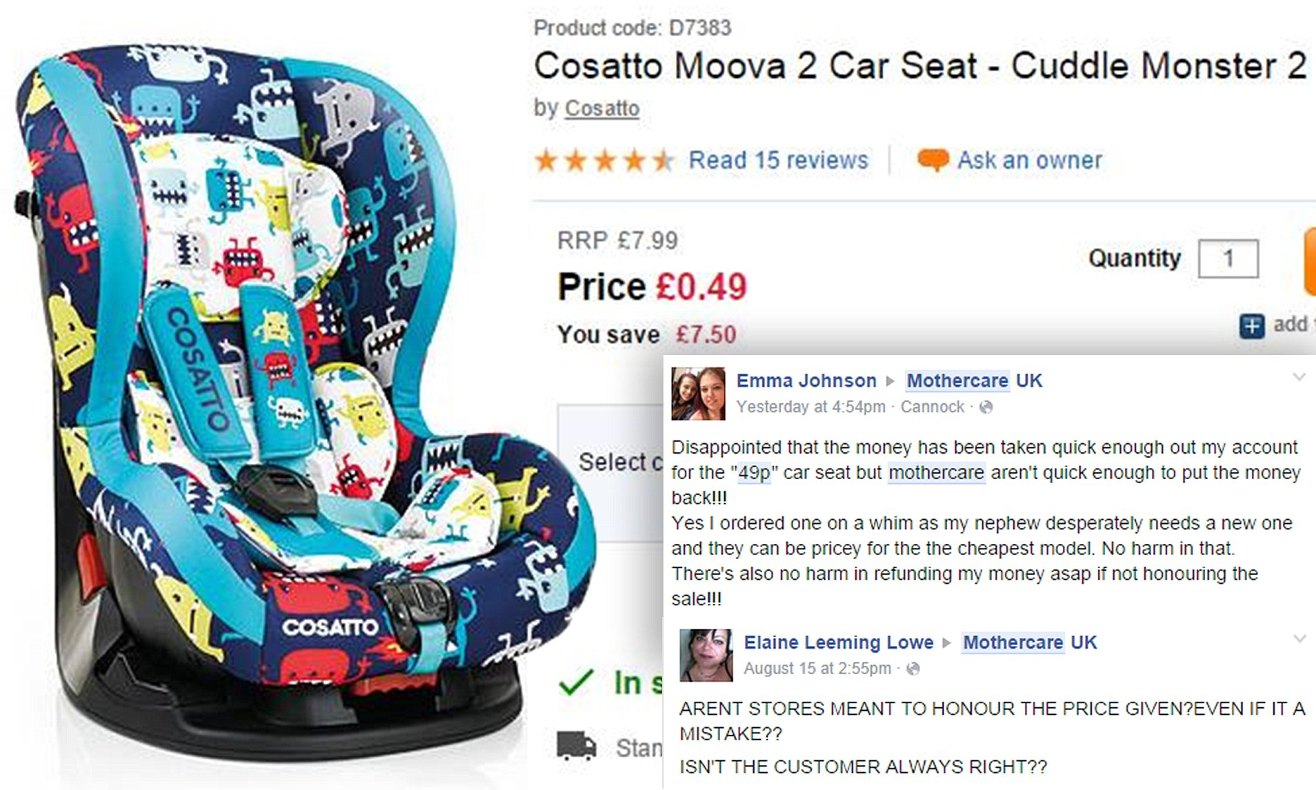Oyster Double Pram Mothercare Mothercare Offers 135 Cosatto Moova Car Seat For 49p In