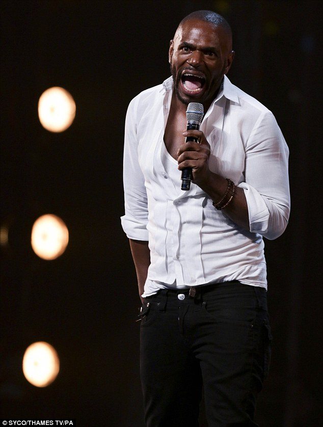 Bouncing back: A defiant Anton Stephans is just one of the hopefuls to appear in Sunday night's X Factor show