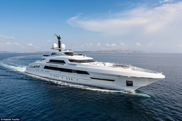 Making waves: The yacht is owned by Nigerian energy magnate Kola Aluko, who loans it out for a reported £580,000-a-week