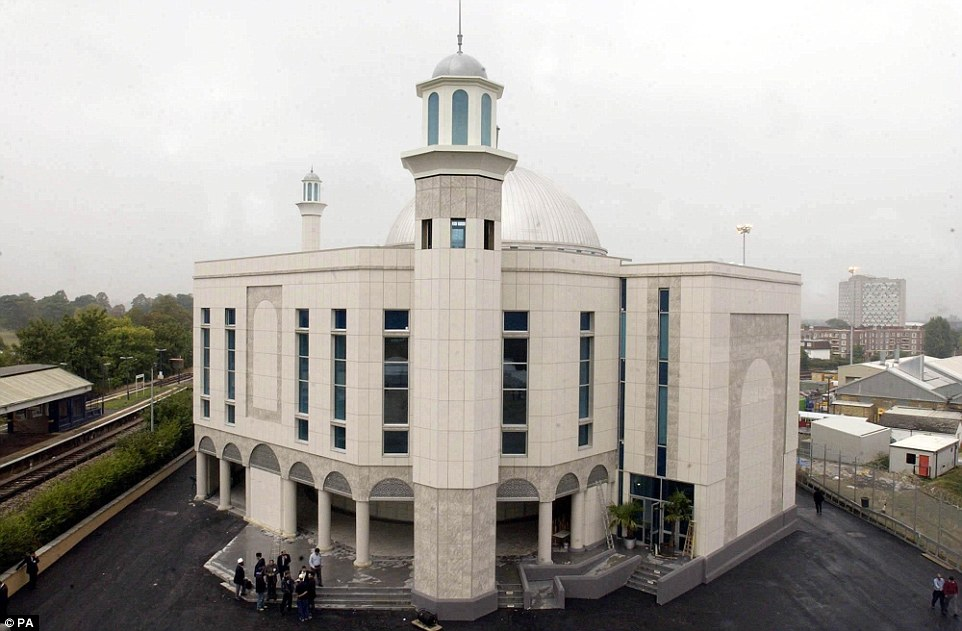 Before: The Baitul Futuh can be seen here in a file photo from 2003. One man caught up in the blaze is is hospital with smoke inhalation