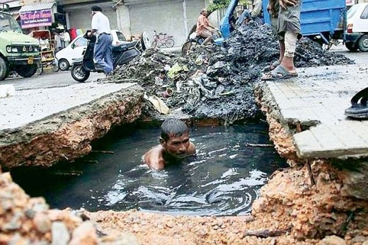 Governments employ people to do the dirty work: AAP chief Arvind Kerjriwal posted this picture on Facebook