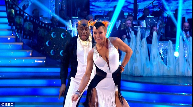 Monochrome:Ainsley seemed to run into a bit of trouble when one of his braces snapped off during the performance although he simply glossed over the wardrobe malfunction