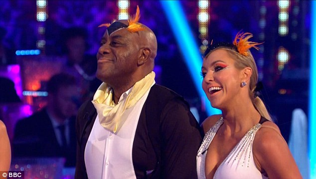 Penguin pals:Loveable TV chef Ainsley Harriot and Natalie Lowe dancing a penguin themed Cha Cha to Earth, Wind and Fire's 1979 hit Boogie Wonderland in honour of animated movie Happy Feet