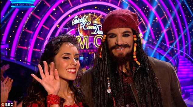 Aye Aye!Fan favourite Peter Andre was dancing the Pasodoble with Janette Manrara in a Pirates of the Caribbean themed routine and he dressed as Johnny Depp's legendary character Captain Jack Sparrow
