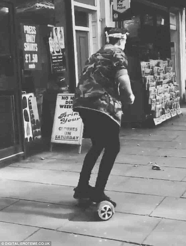 Wheely good!The latest trend he has taken on and clearly mastered is the Wiz Board - a two wheel self balancing scooter which has taken the celebrity world by storm