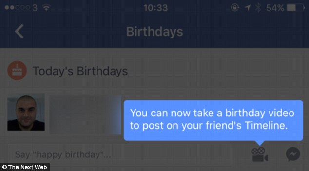 Facebook now lets users send 20-second videos to wish friends happy