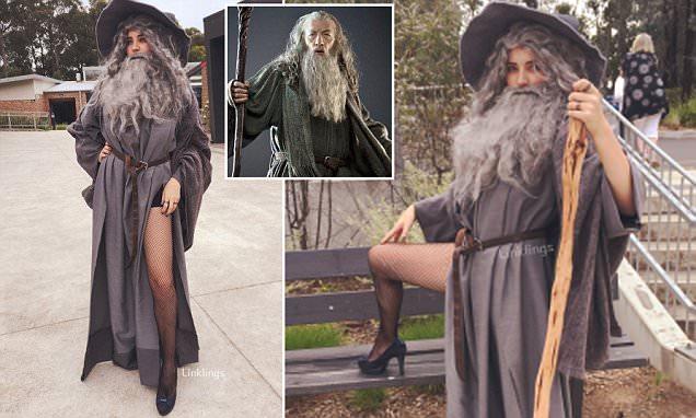 Tjitske Van Vark Dresses Up As Sexy Gandalf For Muck Up