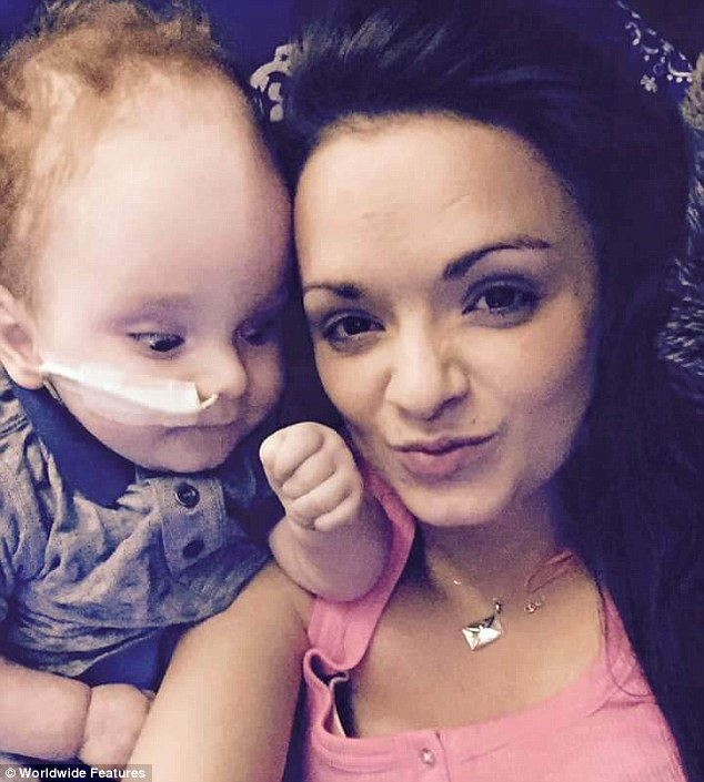Baby born without a brain celebrates his 2nd birthday and says
