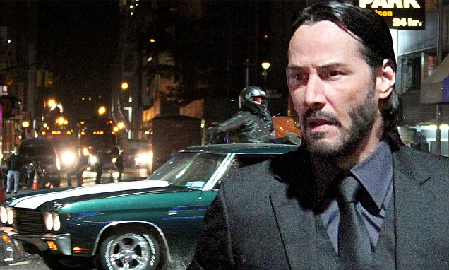 Muscle Car Wallpaper Black And White Keanu Reeves Smashes Into A Motorcyclist With His Car In