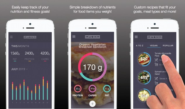 Slate Scale weigh your food and automatically track what you\u0027re