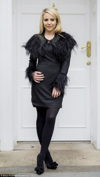 TOWIE's Lydia Bright cuts a stylish figure in feathered cape | Daily Mail Online