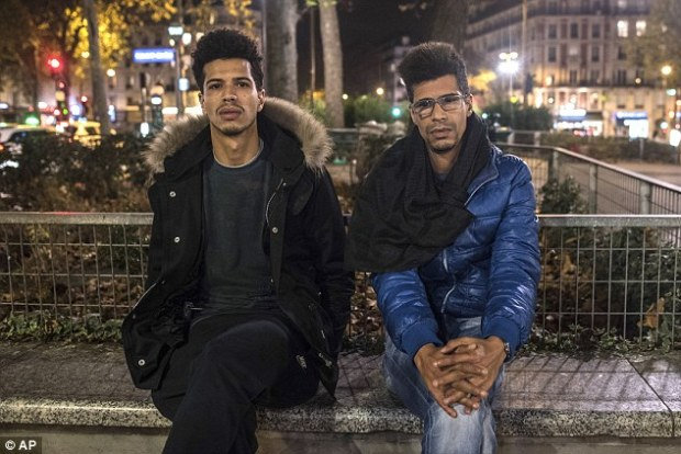 Survived:Khaled Saadi (left), who was working as his sister celebrated her birthday, gave one of his sisters CPR but his attempts were in vain. He is pictured with Abdullah Saadi