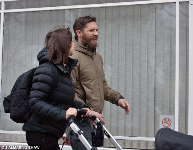Tom Hardy Spotted Enjoying Daddy Duties With Wife