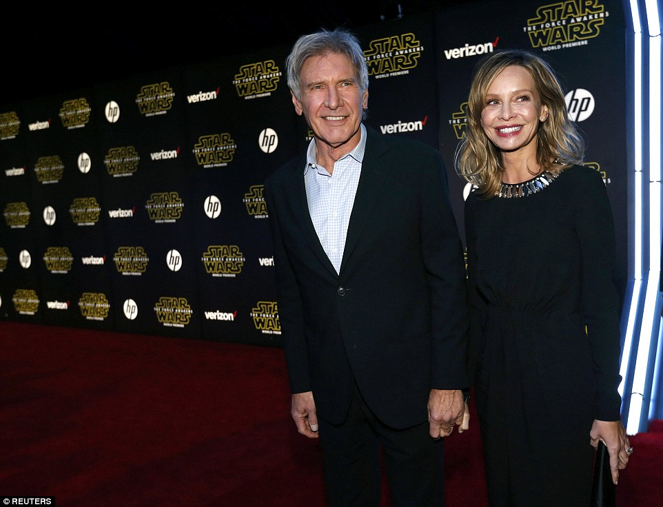 Harrison Ford Mark Hamill And Carrie Fisher Attend Star