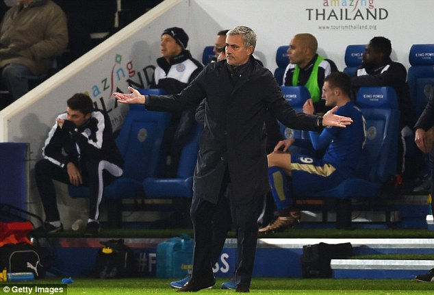 Jose Mourinho cuts a frustrated figure after his side suffer another defeat in the Premier League