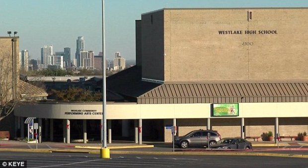 Wey, a former math teacher at Westlake High School (above) in Austin, Texas, was arrested on December 17 on two counts of felony improper relationship between an educator and student
