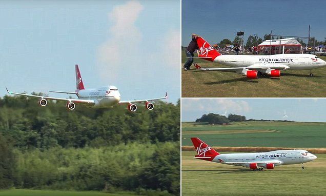 Remote control plane measures 178 feet and weighs 150 pounds