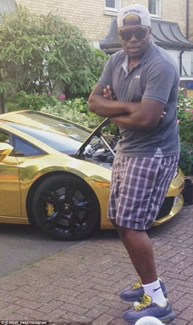 Elijah Oyefeso dropped out of university after using his student loan to make money on the stock market. In 2014, he bought a £150,000 Lamborghini and had it painted gold, pictured