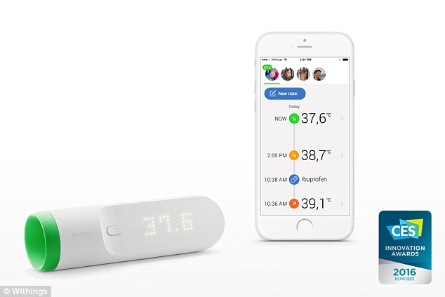 Withings Thermometer tracks your temperature and warns if you have a