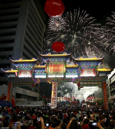 Beijing welcomes Chinese New Year, the Year of the Monkey with fireworks   Daily Mail Online