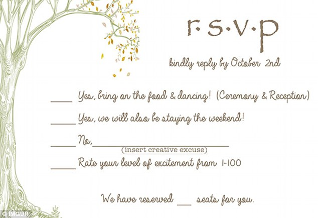 An Australian couple have sent the best wedding RSVP card ever