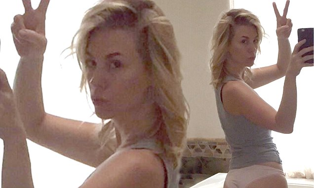 Black And Grey Wallpaper January Jones Strips To Her Underwear In A Tongue In Cheek