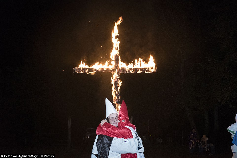 Tree Lighting Ceremony Dc Haunting Kkk Photos Show Members Getting Married During Barn Ceremony In Tennessee | Daily Mail