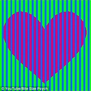 3d Colours Wallpaper Heart Optical Illusion Sends The Internet Into A Frenzy As