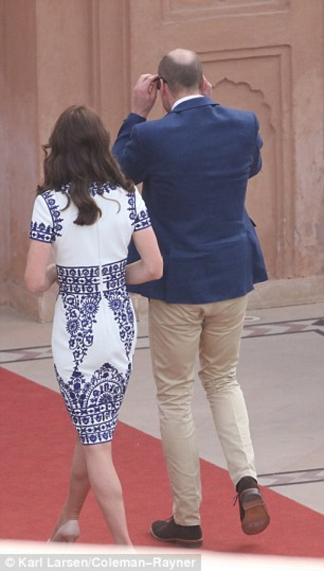 The royal then replaced his sunglasses in an effort to conceal his emotion while he was accompanied by his ever loyal wife