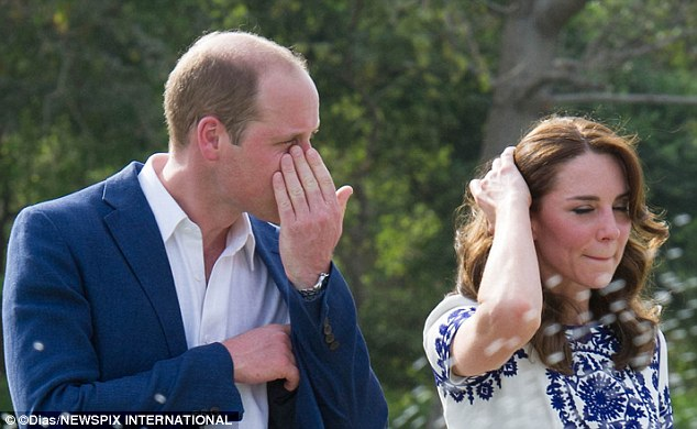 New photos that have emerged of the Duke and Duchess of Cambridge's visit to the Taj Mahal appear to show William becoming emotional having visited the same spot his mother had 24 years earlier