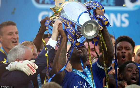 EPL Champion: Leicester City Lift Premier League Trophy