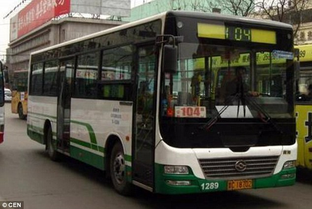 Humble: On his workdays the unnamed driver commands 104 buses through downtown Taiyuan to make cash