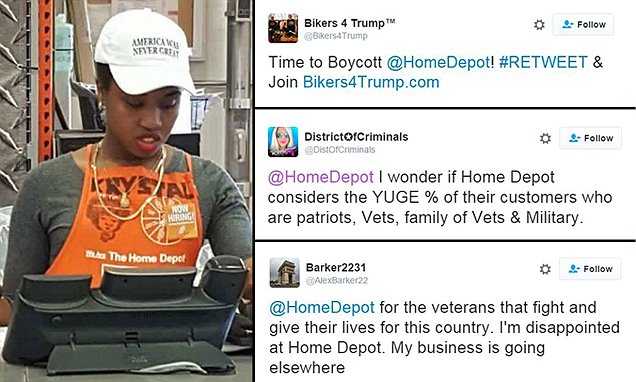 Home Depot ban worker from wearing hat after Donald Trump supporters