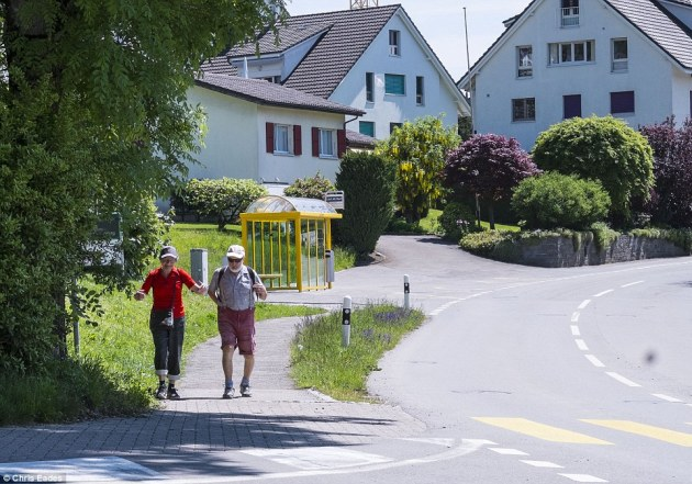 Picture perfect:Fears women and children could be at risk from sex attacks as well as the disruption to their peaceful way of life has led the super-rich of Switzerland¿s alpine bolthole to vote 'no' in the May 1 referendum